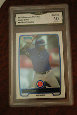 GRADED BASEBALL CARD 2012 BOWMAN CHROME JORGE SOLER ROOKIE GEM MINT 10