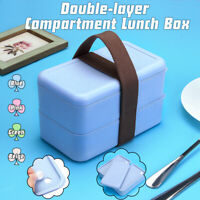 2 Layers Lunch Box Food Container Microwave Oven Bento Picnic Portab