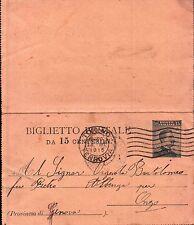 BIGLIETTO POSTALE DA MILITARE REGIO ESERCITO A TORINO 1915 PER ONZO  C10-843