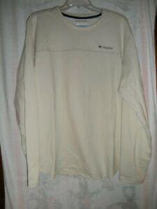 Columbia Omni-Wick Rugged Ridge Long Sleeve Crew Shirt Men's XL, NWT'S Cream/Tan