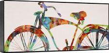 Cruser I Abstract Cycling Bicycle Riding Bike Biking Art Deco Canvas Print 15x39