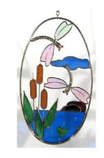 DRAGONFLY FROG OVAL Pre-Cut Stained Glass Kit READ THE DESCRIPTION Studio 1 9046
