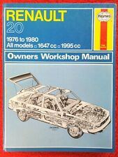 Renault 20 Haynes Workshop Manual from 1976 to 1980.
