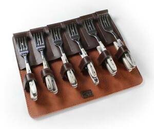 Premium Argentine Gaucho Cutlery Set - Deer Antler Handle - Stainless Steel