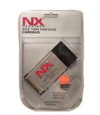 New Sealed Nexxtech Ieee 1394 Firewire Cardbus N2Pfwcb