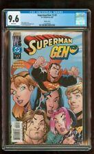 CGC 9.6 SUPERMAN/GEN 13 #3 D.C. WILDSTORM COMICS 2000 VARIANT COVER WHITE PAGES