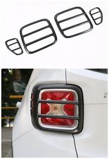 4Pcs Black Iron Tail light Lamp Cover Trim Frame for Jeep Renegade 2015-2016