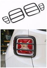 4Pcs Black Iron Tail light Lamp Cover Trim Frame  for Jeep Renegade 2015-2016