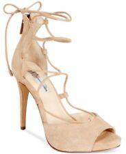 Inc International Concepts Sabba Peep-Toe Lace-Up Pumps Sandals, Nude, 10M