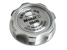 SILVER MOBIL 1 M7-STYLE JDM CNC BILLET ENGINE OIL FILLER CAP FOR HONDA ACURA
