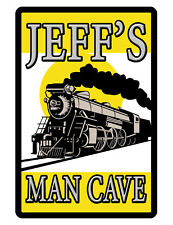 Personalized Sign Your Name Durable Aluminum No Rust Full Color Train Sign Rr88