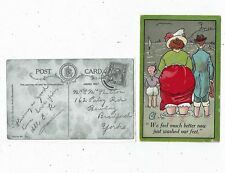 """POST CARD COMIC TITLED """"WE FEEL MUCH BETTER NOW JUST WASHED OUR FEET"""""""