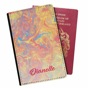 Personalised Marble PU Leather Effect Passport Holder Travel Wallet - 45