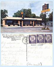 Glass House Drive In Restaurant Maple Dr Atlanta Georgia 1959 Postcard - Signage