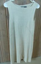 DKNY Beege Sleeveless Linen Dress Sz PS