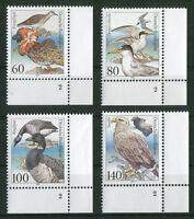 Bund 1539 - 1542 FN ** alle Formnummer 2 postfrisch Eckrand  Ecke 4 Motiv Vögel