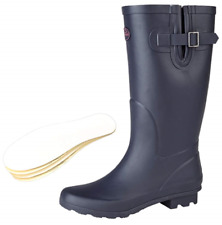 StormWells Ladies Wide Calf Wellies Wellington Boots Plus Extra Comfort Memory 7