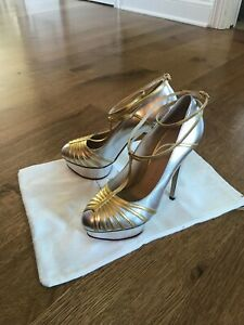 NEW Charlotte Olympia Silver Wedge Heel