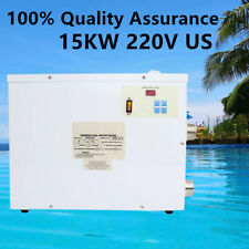 New Electric Water Heater 15KW 220V Swimming Pool SPA Hot Tub Heater Thermostat