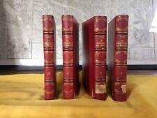 THIERS-HISTOIRE DU CONSULAT ET DE L'EMPIRE-LIVRE ANCIEN RARE - 4 VOLUMES RELIES
