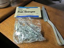 "~MAXTEC~46""~ 9-SNAP CHAIN FISH STRINGER~CENTER SWIVEL-PLATED + FISH SKINNER~NEW"