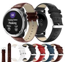 For Garmin Vivoactive 3 Strap Crocodile Leather Watch Band