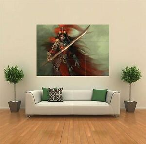 FEMALE FANTASY WARRIOR SWORD NEW GIANT POSTER WALL ART PRINT PICTURE G128