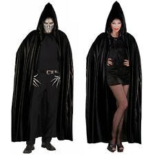 SCHWARZER UMHANG Halloween Mittelalter Gothik Vampir Sensenmann Kostüm Fest 3585
