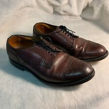 Allen Edmonds Brown Leather Oxford Cap Toe Mens Shoes 10.5
