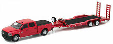 GREENLIGHT 1:64 HITCH & TOW 2016 RAM 2500 & HEAVY DUTY CAR TRAILER 32090 D