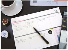 A4 Desk Weekly Plan Travel Journal Schedule Planner Memo NotePad Organizer #UK