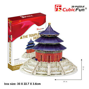 New The Temple of Heaven China 3D Paper Toy Model Jigsaw Puzzle 115 Piece MC072H