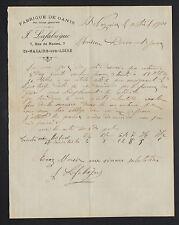 """SAINT-NAZAIRE (44) USINE de GANTS / MODE """"J. LAFABREGUE"""" en 1900"""