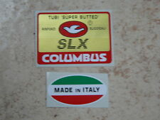 adesivo stickers per bici da corsa vintage columbus SLX + made in Italy