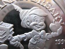 1 OZ.999 SILVER COIN  DISNEY'S PINOCCHIO, GEPPETTO,JIMMY CRICKET STROMBOLI +GOLD
