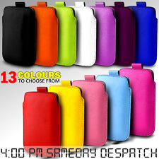 LEATHER PULL TAB SKIN CASE COVER POUCH  FITS VARIOUS SAMSUNG MOBILE