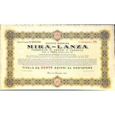SOC. ANON . MIRA - LANZA - 100 AZIONI MIRA 1925