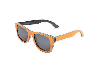 Holz Sonnenbrille orange Der Rahmen besteht aus Skateboard Holz unisex