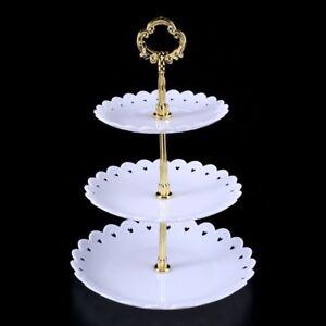 3 Tier White Round Display Cake Stand Food Platter Serving Rack Holder