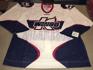 Nwt New KALAMAZOO K WINGS ECHL AUTHENTIC PRO WHITE CCM HOCKEY JERSEY SIZE 56