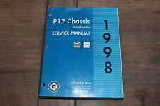 1998 P12 Chassis GMC Motorhome Book 3 Engine Transmision GM Shop Service Manual
