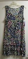 Nygard Womens Dress - Black/White Multi - XL - NWT