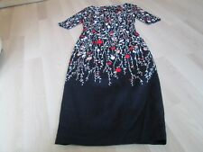 BODEN LADIES NAVY FLEUR FITTED DRESS SIZE 6L