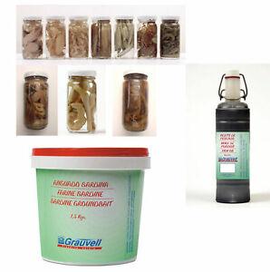 Naturköder konserviert Shrimps, Tintenfisch, Muscheln, Seeringelwürmer, Köfi