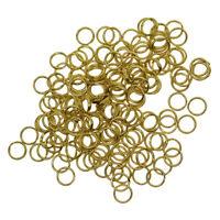 100 Pieces Split Brass Rings Small Key Rings Bulk Keychain Rings For Keys