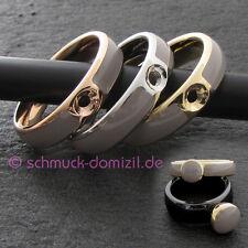 MelanO Twisted - Resin Ring Gr. 58 - Edelstahl GELBGOLD verg. / Taupe