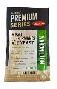 Lallemand Nottingham Ale Yeast - Premium Series 11g Packet - Brewers Dried Yeast