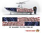 American Flag Graphic Boat Vinyl Wrap Fishing Pontoon Decal lot