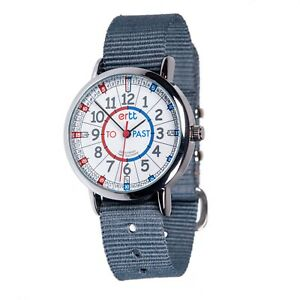 EasyRead Time Teacher Red/Blue, Past & To Watch - Grey Strap (ERW-RB-PT-GR)