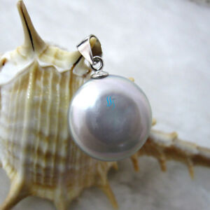11.0-12.0mm Coin Freshwater Pearl Pendant P1S UK——MORE COLORS